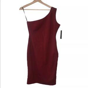 Lulus One Shoulder Sheath Bodycon Dress